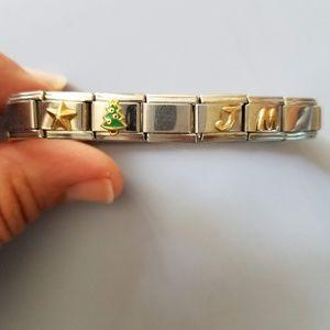 Disney Bracelet in Stainless Steel and 18K